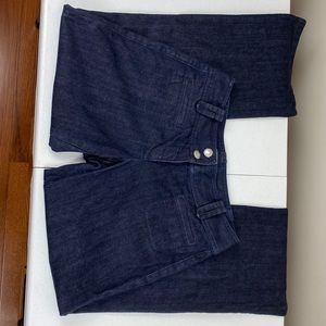 Ann Taylor Dark Wash Trouser Jeans 6